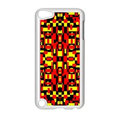 Red Black Yellow 1 Apple Ipod Touch 5 Case (white) by ArtworkByPatrick1