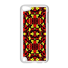 Red Black Yellow 5 Apple Ipod Touch 5 Case (white) by ArtworkByPatrick1