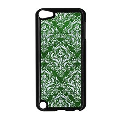 Damask1 White Marble & Green Leather Apple Ipod Touch 5 Case (black) by trendistuff