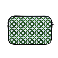 Circles3 White Marble & Green Leather (r) Apple Macbook Pro 13  Zipper Case by trendistuff