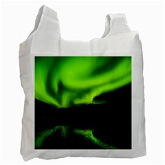 Aurora Borealis Northern Lights Sky Recycle Bag (one Side) by Samandel