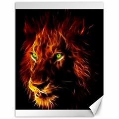 King Lion Wallpaper Animals Canvas 12  X 16  by AnjaniArt