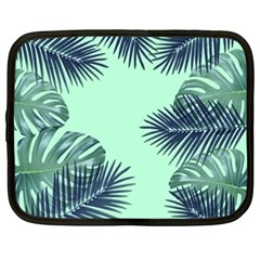 Tropical Leaves Green Leaf Netbook Case (xxl)