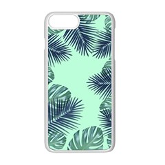 Tropical Leaves Green Leaf Apple Iphone 8 Plus Seamless Case (white)