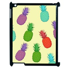 Colorful Pineapples Wallpaper Background Apple Ipad 2 Case (black) by Samandel
