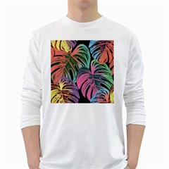 Leaves Tropical Jungle Pattern Long Sleeve T Shirt
