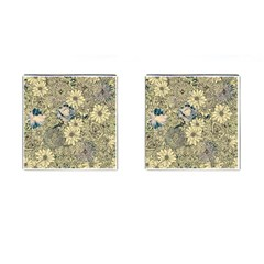 Abstract Art Artistic Botanical Cufflinks (square)
