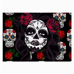 Mexican Skull Lady Large Glasses Cloth (2 Side) by snowwhitegirl