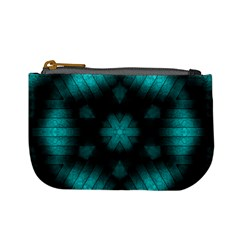 Abstract Pattern Black Green Mini Coin Purse