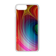 Background Color Colorful Rings Apple Iphone 8 Plus Seamless Case (white) by Samandel