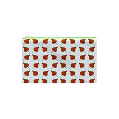Pattern Fallen Leaves Autumn Cosmetic Bag (xs) by Nexatart