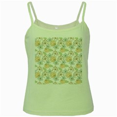 Dandelion Colors Nature Flower Green Spaghetti Tank by Nexatart