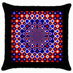 Digital Art Background Red Blue Throw Pillow Case (black) by Sapixe