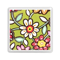 Flowers Fabrics Floral Design Memory Card Reader (square) by Sapixe