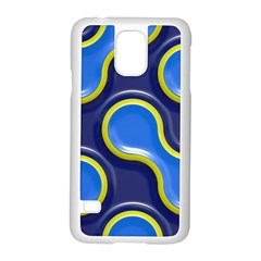 Pattern Curve Design Seamless Samsung Galaxy S5 Case (white) by Sapixe
