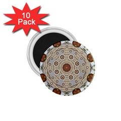 Flower Wreath In The Jungle Wood Forest 1 75  Magnets (10 Pack)