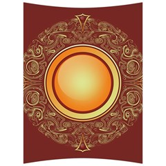 Badge Gilding Sun Red Oriental Back Support Cushion by Sapixe