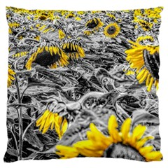 Sunflower Field Girasol Sunflower Large Cushion Case (two Sides) by Sapixe