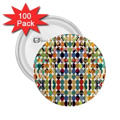 Retro Pattern Abstract 2 25  Buttons (100 Pack)  by Jojostore
