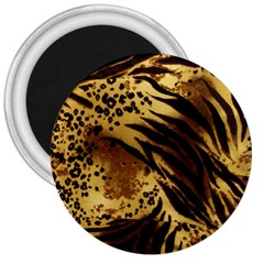 Stripes Tiger Pattern Safari Animal Print 3  Magnets