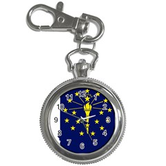 Flag Map Of Indiana Key Chain Watches