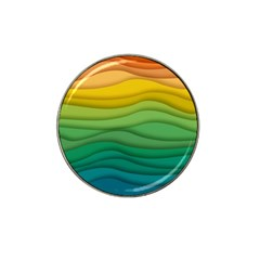 Background Waves Wave Texture Hat Clip Ball Marker (4 Pack) by Sapixe