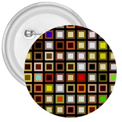 Squares Colorful Texture Modern Art 3  Buttons by Bejoart