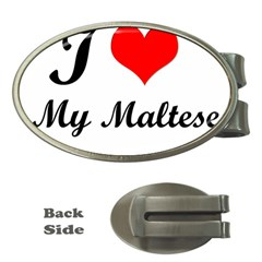 I Love My Maltese Money Clip (oval) by happyc