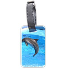 Jumping Dolphin Luggage Tag (one Side) by dropshipcnnet