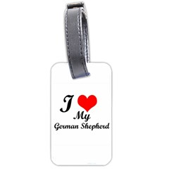 I Love My Beagle Luggage Tag (two Sides) by free