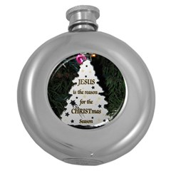 Jesus Is The Reason Hip Flask (round) by tammystotesandtreasures