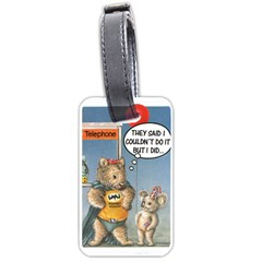 Wombat Woman Single Sided Luggage Tag by Koalasandkangasplus